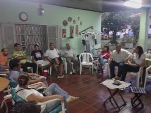 Vista de una de las reuniones realizadas en el sector centro de la ciudad