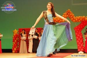 Tania Peralta,en la noche de elección de Miss Latina Japón 2013.