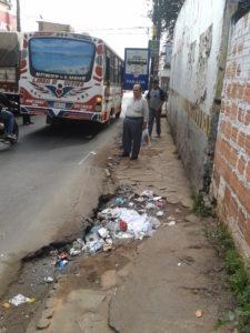 Éste es el estado de la parada que se encuentra sobre Saturio Ríos.