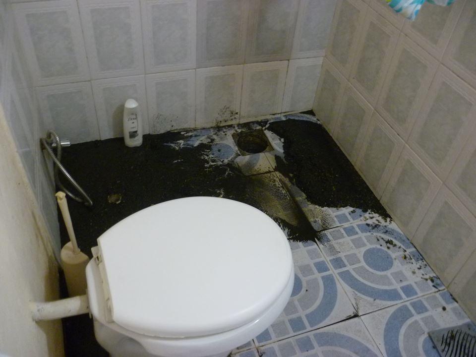 Uno de los baños del domicilio