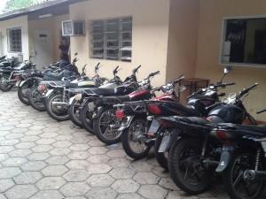 Solo entre viernes y lunes se incautaron 26 motos.