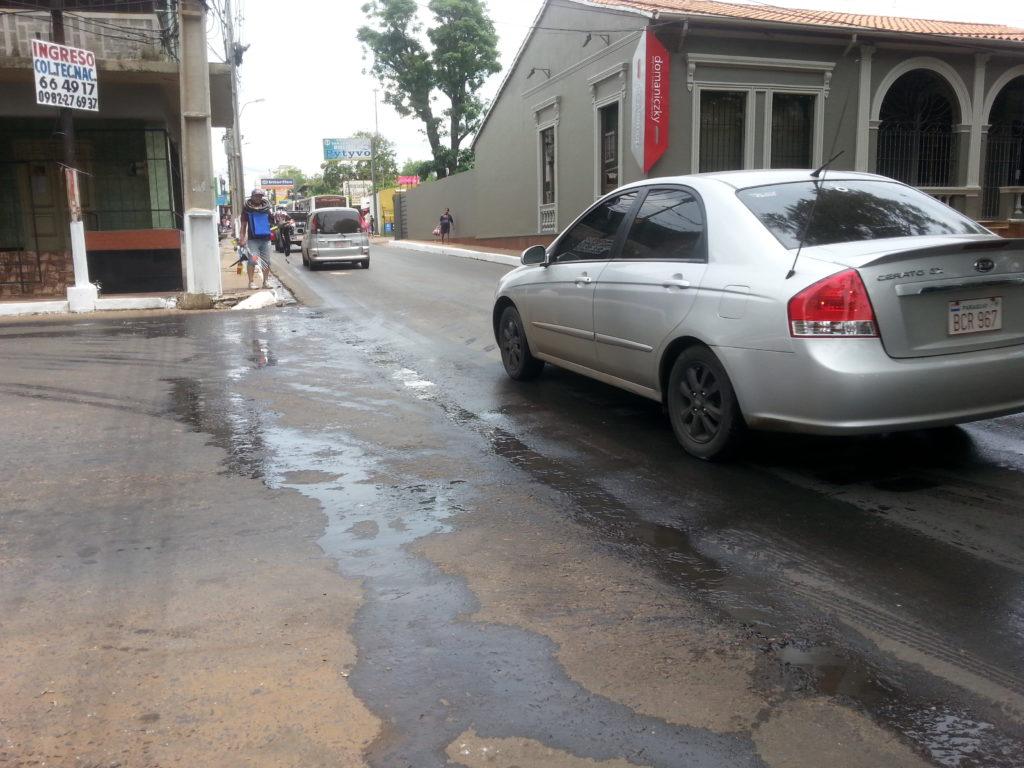 Imagen captada ayer en la calle Rodriguez de Francia y Defensores del Chaco
