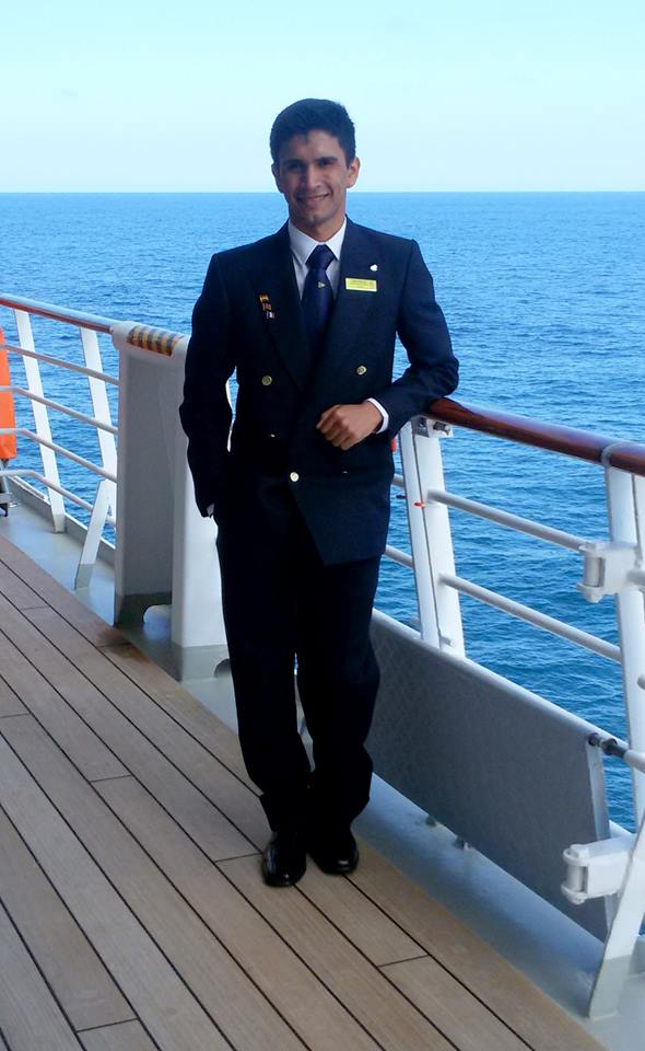 Álvaro Molinas, sanlorenzano que fue seleccionado de entre 600 postulantes.
