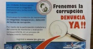 IPS habilitó el canal para denunciar casos de corrupción. Foto: Última Hora - Walter Franco.