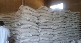 Bolsas de azúcar allanadas en San Lorenzo. Foto: ABC Color.