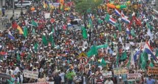 La marcha campesina se realiza en marzo, anualmente. Foto: UH (archivo)