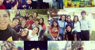 Collage de imágenes donde aparecen los integrantes del grupo juvenil Eden. (gentileza Luz Allende)