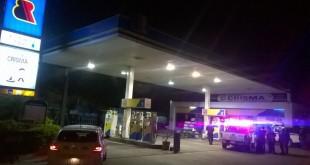 La estación de servicios atacada por dos delincuentes. Foto: Silvio Rojas - ABC Color.