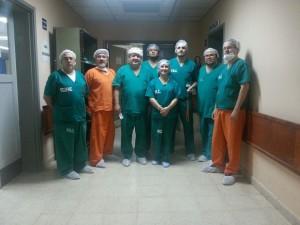 Parte de profesionales involucrados en el operativo trasplante