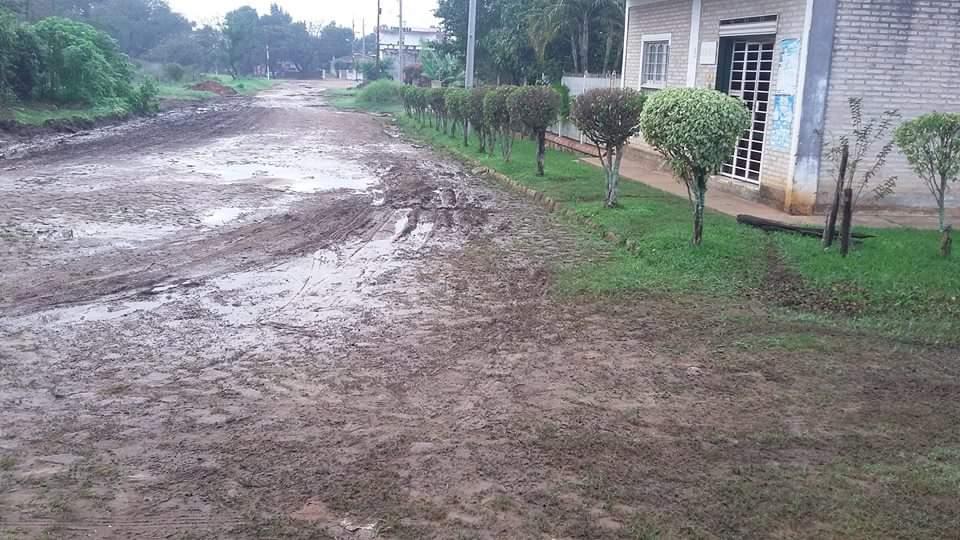 Estado de la calle Tobago es intransitable. (Imagen gentileza Leonardo Barros)