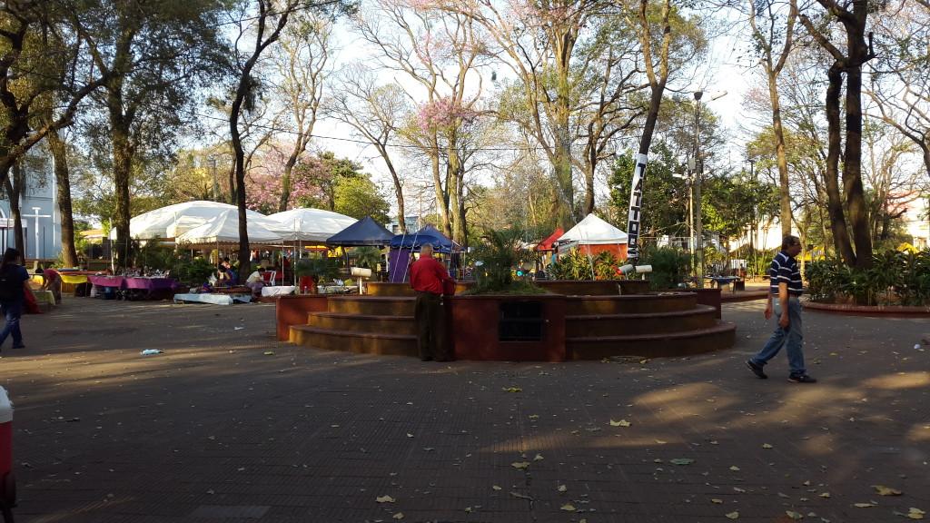 La fuente solo funciona durante la semana de festejos, luego queda abandonado.