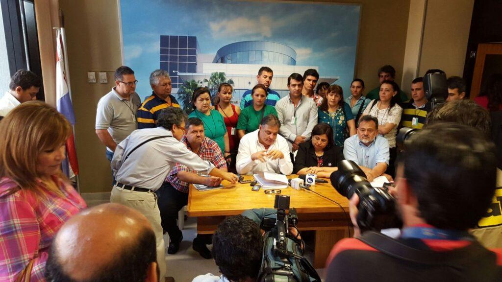 Momento de la conferencia de prensa. (Imagen gentileza: Gustavo López)