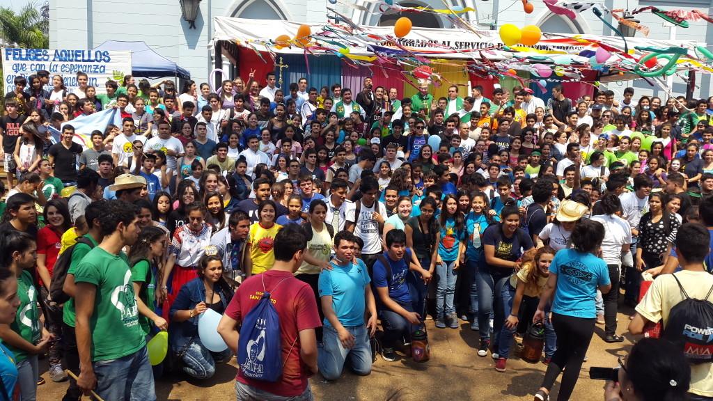 Imagen archivo SLPY. Peregrinación de Jóvenes de la Diócesis de San Lorenzo