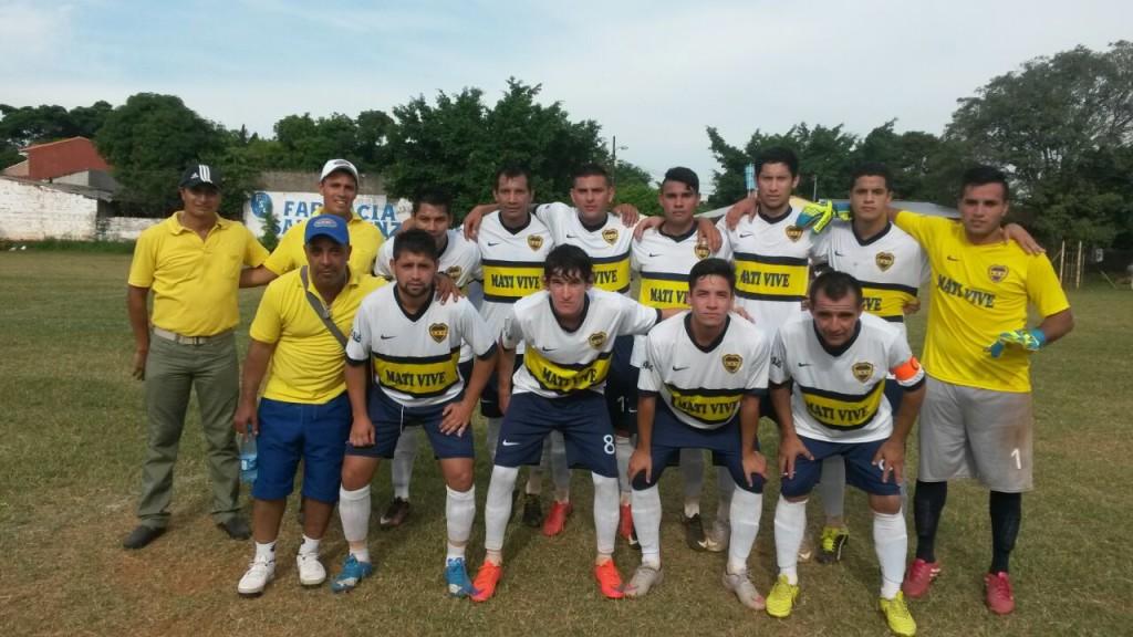 Club Atlético Corrales que le ganó al club Barrio Guarani por 3-2
