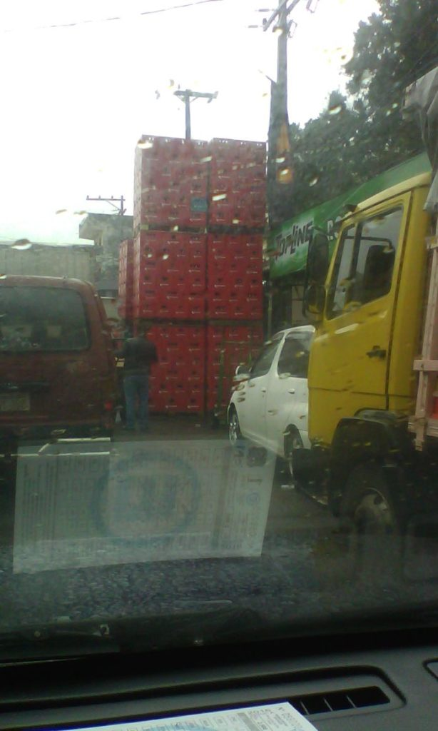 Imagen del pasado martes sobre la calle Sgto Silva casi Julia M. Cueto. (gentileza de un lector)