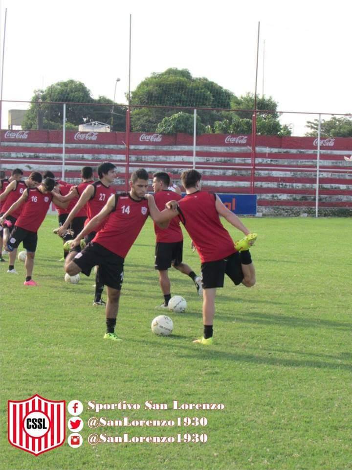"""Jugadores en la práctica de ayer. (Imagen gentileza Enrique """"Chuquito"""" Ramos)"""