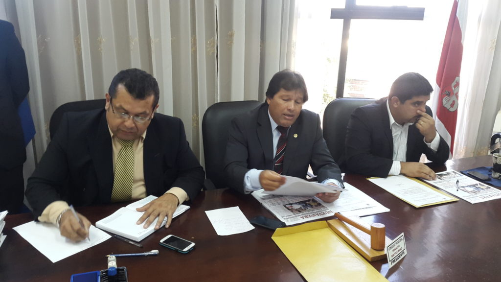 El autor de la minuta es el presidente de la Junta Municipal, IgNAcio Britez. (Imagen archivo SLPY)