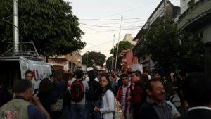 Panorama de esta tarde sobre la calle Cerro Corá frente al colegio Rca. Argentina. (Imagen gentileza Camila Candia)