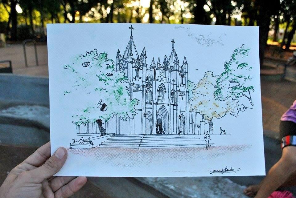 """Evento de dibujo """"La Catedral a Mano Alzada"""" es mañana"""
