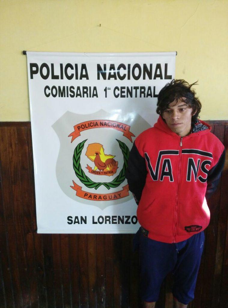 Persecución policial por calles de San Lorenzo